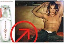 Publicité Advertising 2002 (2 pages) Parfum pour Homme Craven par Calvin Klein
