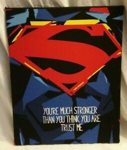 SUPERMAN QUOTE HANDMADE ART PIECE