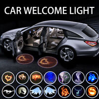 2PCS Wireless Car Door Welcome LED Projector light Courtesy Laser Shadow Lamps