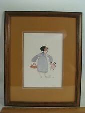 1983 785/1000 P Buckley Moss BECKY Little Girl w Doll Framed Print