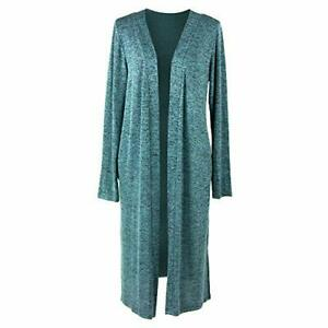 Hello Mello Carefree Threads Women's Long-Sleeve  Knit Cardigan Mint - Large