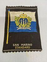Vintage San Marino Tobacco Silk Standard American Tobacco Co. Silk Flag Premium