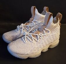 87f89825557ad Nike LeBron XV 15  GHOST EDITION  Sz 11 String Tan-Sail 897648-
