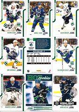 2011-12 Panini Score Vancouver Canucks Complete Team Set (25)