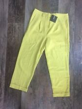 Brand new ASOS petite yellow crepe trousers -  8 - with cuffs