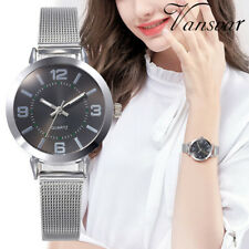Vansvar Lady Casual Quartz Stainless Steel Band Simple Watch Analog Wrist Watch