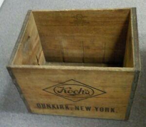 Vintage Koch's Beer Wood Crate w/ Handles Dunkirk, NY.