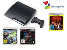 SONY PS3 SLIM 160 GB (3004A)SPIELEBUNDLE 4 GAMES / HDMI DEFEKT /NUR AV GEHT