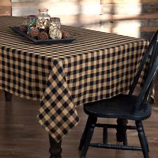 "New Primitive Farmhouse TAN BLACK BURLAP CHECK TABLECLOTH Table Cloth 40""x 40"""