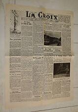 FAC-SIMILE A LA UNE JOURNAL LA CROIX 24/08 1927 SACCO ET VANZETTI LOURDES