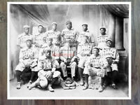 1909 Negro Leagues Philadelphia Giants Team Picture with Names 8 X 10 Photo Pic
