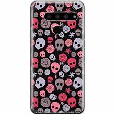For LG G8 ThinQ Case Velvet 5G G7 V60 V50 Stylo 6 5 Pink Skulls Cute Soft Clear