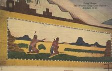 """*South Dakota Postcard-""""Panel Scene"""" /World's Only Corn Palace/ -Mitchell-"""