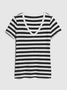 BNEW GAP Vintage Wash Stripe V-Neck T-Shirt Size Small