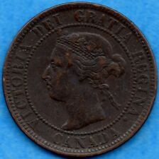 Canada 1899 1 Cent One Large Cent Coin - Very Fine