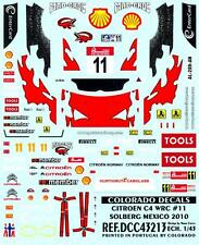 Colorado Decals 1/43 CITROEN C4 WRC #11 PETTER SOLBERG MEXICO 2010