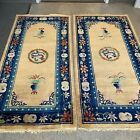 ANTIQUE CHINESE ART DECO RUG #9349and #9350 a pair  3x6  in perfect condition