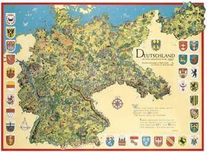 """Landkarte """"Deutschland i. d. Grenzen 1937 """" Deutsches Reich historisch Bildwandk"""