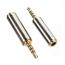 2.5mm Male Jack to 3.5mm Female Stereo Audio Headphone MIC Adapter Converter UK