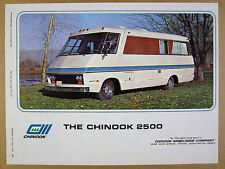 1970 Chinook 2500 Motorhome RV color photo vintage print Ad