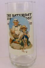 Arby's Collector Series Norman Rockwell The Saturday Evening Post Drinking Glass