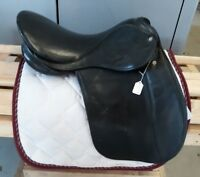 "18"" MW Beim Kloster Schontal black leather dressage saddle from Germany"