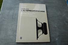 "Visaton "" Handbuch der Lautsprechertechnik "" F. Hausdorf"