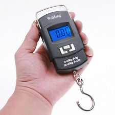 50kg*10g Mini Digital Scale Hanging Luggage Fishing Weighing Scale Fine Balance