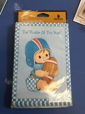 Sealed Vintage Baby Boy Birth Announcements Football Set of 8