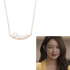 Swarovski Fundamental Necklace White Crystal Peal R.G plated 15in