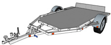 GROUND LOADING TRAILER, MOTOR BIKE QUAD TRAILER SELF-BUILD PLANS.