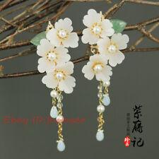 ZiTengJi Hair Jewelry Hanfu Hairpin Tassels bobby pin Cosplay Flower Hair Clip