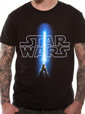 Official Star Wars Logo and Saber T-shirt Movie A New Hope Luke Skywalker Small