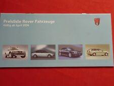 ROVER 25 45 75 Limousine 75 Tourer Preisliste von 2004