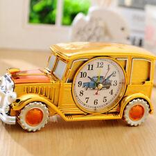 Desk Shelf Alarm Clock Vintage Antique Car Gift for Kids Electronic Clock Easter
