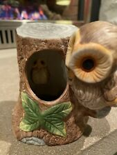 """Owl Music Box With Movable Baby Owl Inside. Plays """"country Roads"""