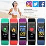 115plus Smartwatch Armbanduhr Schrittzähler Fitness Tracker Pulsuhr Blutdruck bs