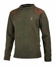 Jagdpullover Ansitz /& Winter Hubertus Jagdsweater mit Motiv Ente, Sau, Bock