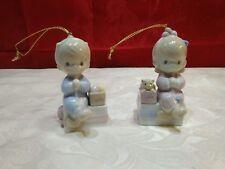 Precious Moments Boy And Girl Ornament Set 1994