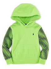 Ralph Lauren Polo Boys Lightweight Tech Fleece Pullover Hoodie Rescue Green, 5