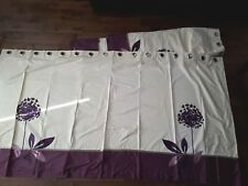 Custom made Curtains Purple and Cream with Eyelets originally from Next