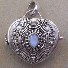 Handmade Sterling Silver Moonstone Perfume--Keepsake or Cremation Locket Pendant