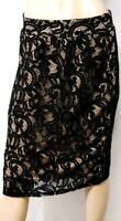 Maurices black beige women's plus size victorian lace dressy skirt  0X , XL