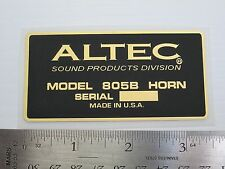 "ALTEC 805B Horn Loudspeaker Driver  ""DECAL"" New!"