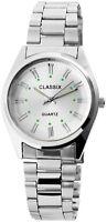 Classix Herrenuhr Silber Analog Metall Quarz Armbanduhr X2800015001
