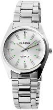 Classix Herrenuhr Silber Analog Metall Quarz Armbanduhr X-2800015-001