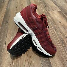 Nike Air Max 95 Premium Team Red Burgundy Maroon 307960-605 Women's Size 10