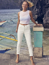 Athleta Sculptek SKINNY Jean 6p 6 Petite White Stretch Jeans
