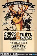 "CHUCK RAGAN / WHITE BUFFALO ""SPRING TOUR 2014"" PHOENIX CONCERT POSTER- Folk Rock"