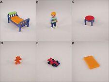 PLAYMOBIL 3964 CHILD BEDROOM MODERN HOUSE BED MATTRESS STOOL BOY CAR BLUE-CHOICE